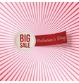 Valentines Day Big Sale Label and red Tag vector image