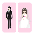 wedding couple character vector image