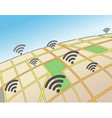 wifi hotspots in an urban area vector image vector image