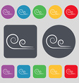 wind icon sign A set of 12 colored buttons Flat vector image vector image