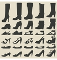 women shoes set vector image vector image