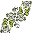 Zentangle hand drawn floral pattern vector image vector image