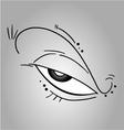 Creative eye vector image
