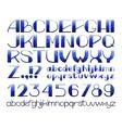 Hand drawn watercolor alphabet vector image