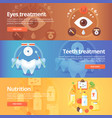 medical and health banners set eye care vision vector image
