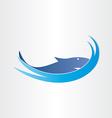 shark in ocean symbol design vector image