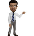 african businessman pointing his finger to rig vector image vector image