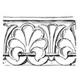 anthemion are from a church at hersfeld vintage vector image vector image
