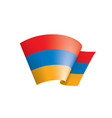 armenia flag on a white vector image vector image