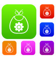 baby bib set collection vector image vector image