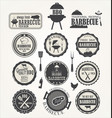 barbeque retro badge collection vector image vector image