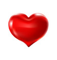 big red heart on a white background celebration vector image