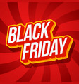 black friday typography friday text on red vector image vector image