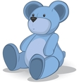 Blue Teddy bear vector image vector image