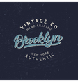brooklyn hand written lettering for tee print vector image vector image