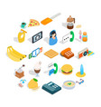 brunch icons set isometric style vector image vector image