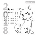 calendar with a dog vector image