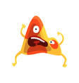 cartoon monster character with funny face vector image vector image