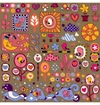 colorful nature cartoon pattern vector image vector image