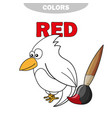coloring book - finny bird learn colors vector image vector image