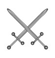 crossed swords sign icon vector image vector image