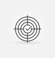 crosshair with tick concept outline icon vector image
