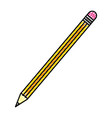 doodle wood pencil object school style vector image vector image