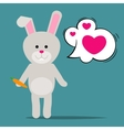 Easter rabbit or Funny bunny vector image