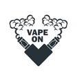 emblem of the electronic cigarette with vector image vector image