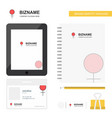 female business logo tab app diary pvc employee vector image vector image