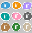 fire extinguisher icon symbols Multicolored paper vector image