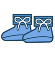 footwear for kids blue shoes for boys children vector image vector image