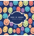 funny faces frame seamless pattern background vector image vector image