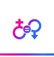 gender equality and equal rights icon vector image vector image
