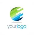 globe round technology logo vector image vector image