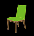 Graphic of a dining chair vector image vector image