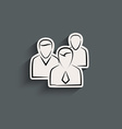 Group of people sign icon vector image vector image
