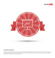 growing graph icon - red ribbon banner vector image
