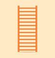 gymnastics wall bars ladder swedish staircase vector image