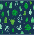 jungle leaves pattern vector image vector image