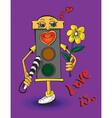 love traffic light vector image vector image