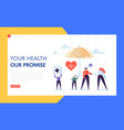 medical health insurance landing page concept vector image