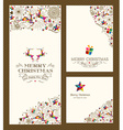 Merry Christmas greeting card set vector image vector image
