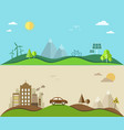 Nature saving and pollution flat vector image