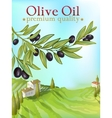 olive oil premium poster vector image vector image