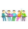 Party Five people booze vector image vector image