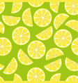 pattern with lemon vector image vector image