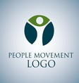PEOPLE MOVEMENT LOGO 1 vector image vector image