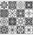 portuguese azulejo tiles design seamless patterns vector image
