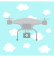 Quadcopter in the sky vector image